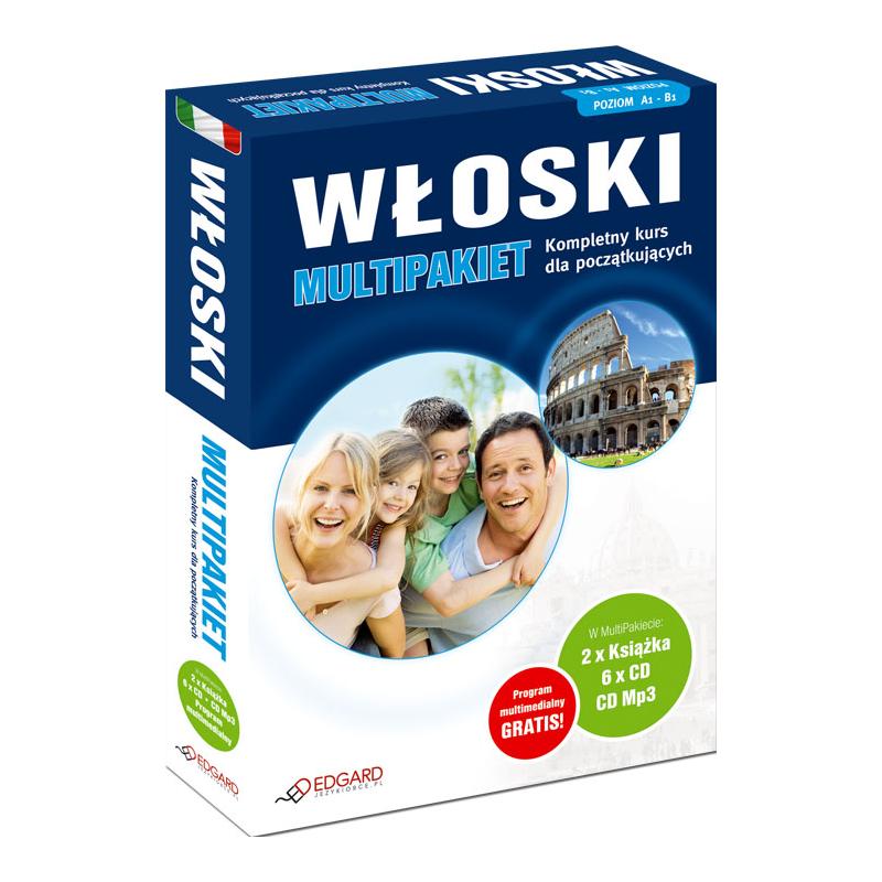 2dc1c2cbe481a4 Włoski MultiPakiet (2 x Książka + 6 x CD Audio + MP3 z programem  multimedialnym