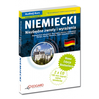 Niemiecki Niezbędne zwroty i wyrażenia - Nowa Edycja (Książka + 2 x Audio CD)