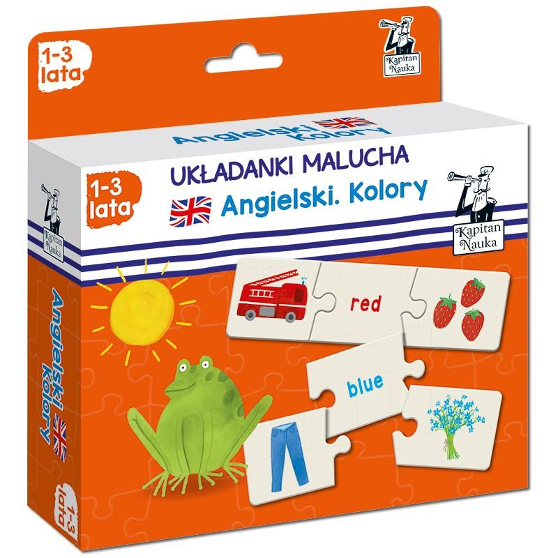 Kapitan Nauka Układanki malucha. Angielski Kolory 1-3 lata (puzzle trzyelementowe)