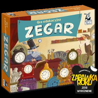 Kapitan Nauka. Gra edukacyjna Zegar 5-9 lat (dwustronny zegar ze wskazówkami + plansze + żetony)