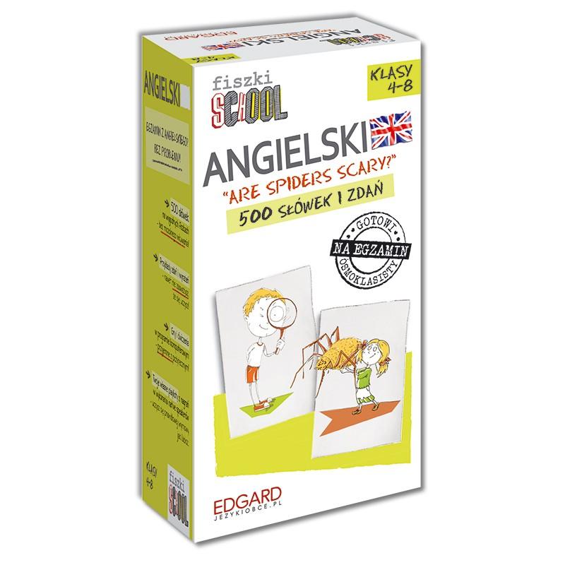 Angielski. Fiszki SCHOOL (500 fiszek + program i nagrania do pobrania + kolorowe przegródki)