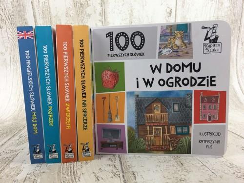 Kapitan Nauka. 100 pierwszych słówek. W domu i ogrodzie 1+ (książka obrazkowa)