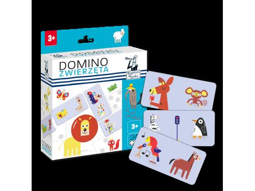 Kapitan Nauka. Domino obrazkowe Zwierzęta 3+