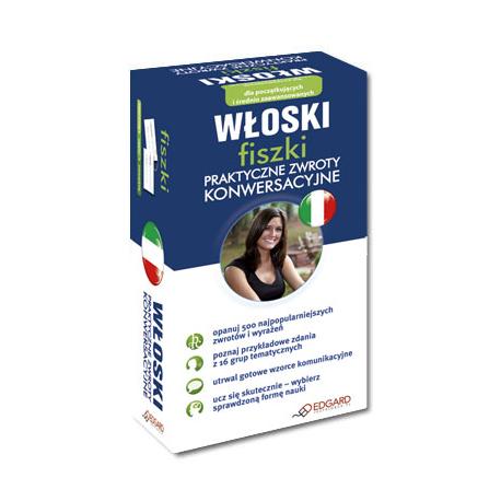 Włoski fiszki Praktyczne zwroty konwersacyjne (500 fiszek + instrukcja)
