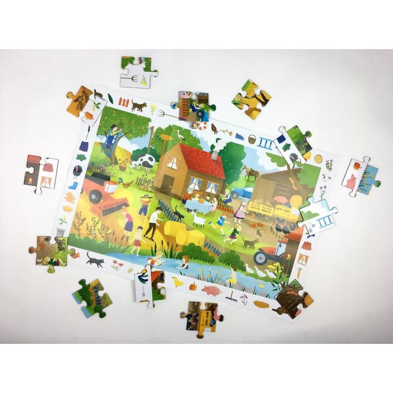 Puzzle obserwacyjne Na wsi 4+