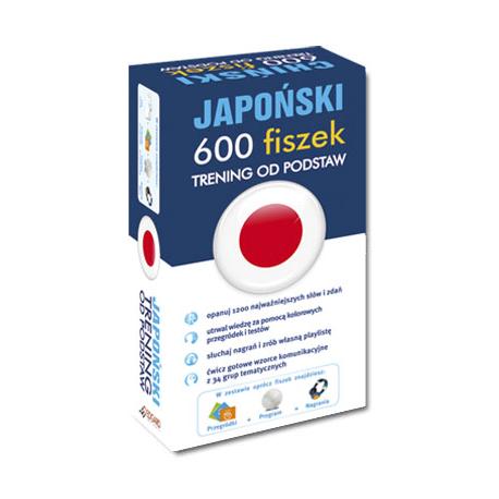 Japoński 600 fiszek Trening od podstaw +CD (600 fiszek (słówka, zdania, gramatyka, znaki kanji) + nagrania MP3 + program)