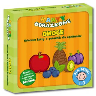 Karty obrazkowe Owoce (od 1 do 3 lat) (Kolorowe karty + poradnik dla opiekunów)