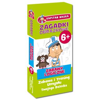Kapitan Nauka Zagadki obrazkowe Zabawy logiczne 6+ (od 6 lat) (56 kolorowych kart)