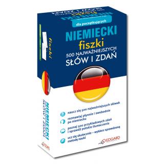 Niemiecki fiszki 500 najważniejszych słów i zdań (500 fiszek + instrukcja)
