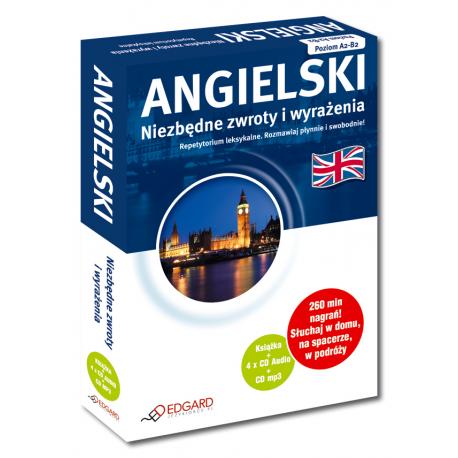 ANGIELSKI Niezbędne zwroty i wyrażenia PAKIET Repetytorium leksykalne  (Książka + 4 x CD Audio+ CD mp3)