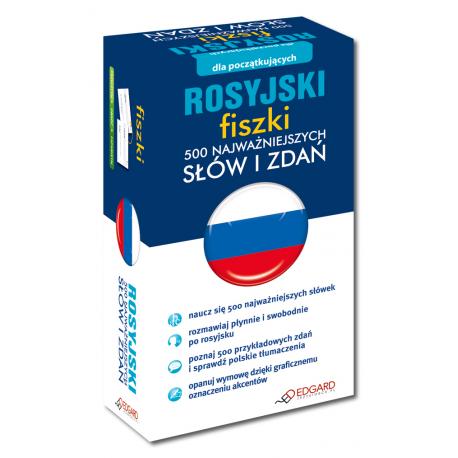 Rosyjski fiszki 500 najważniejszych słów i zdań (500 fiszek + instrukcja)