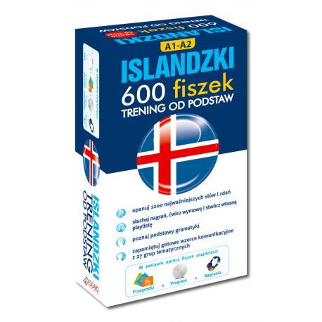 Islandzki 600 fiszek Trening od podstaw +CD (600 fiszek + CD-ROM z programem i nagraniami MP3 + Kolorowe przegródki)