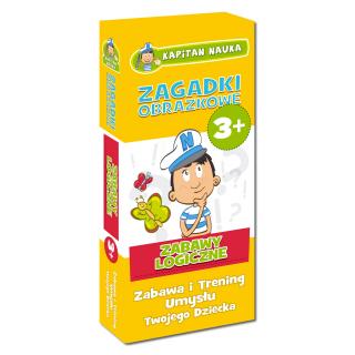 Kapitan Nauka Zagadki obrazkowe Zabawy logiczne 3+ (od 3 lat) (56 kolorowych kart)
