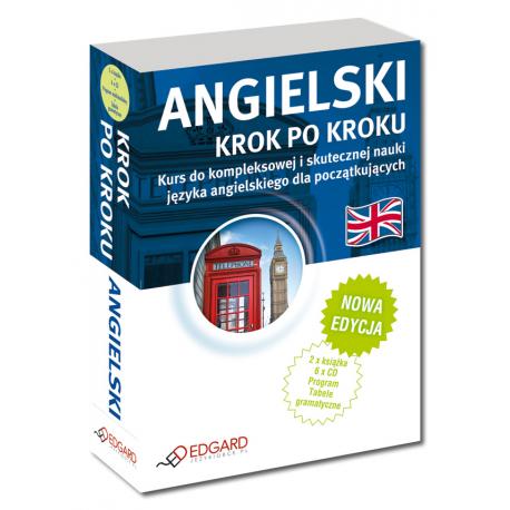 Angielski Krok po kroku NOWA EDYCJA (2 x Książka + 5 x CD Audio + CD MP3 + program multimedialny + tabele gramatyczne)