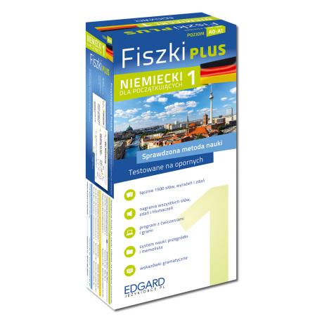 Niemiecki Fiszki PLUS dla początkujących 1  (600 fiszek + program i nagrania do pobrania + kolorowe przegródki + etui)