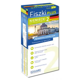 Niemiecki Fiszki PLUS dla początkujących 2  (600 fiszek + program i nagrania do pobrania + kolorowe przegródki + etui)