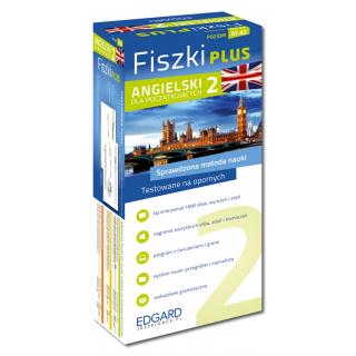 Angielski Fiszki PLUS dla początkujących 2 (600 fiszek + program i nagrania do pobrania + kolorowe przegródki + etui)