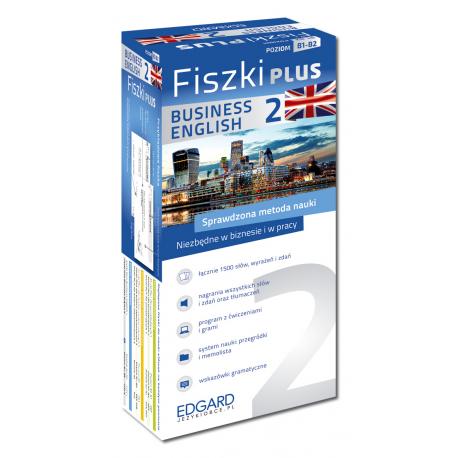 Angielski Fiszki PLUS Business English 2  (600 fiszek + program i nagrania do pobrania + kolorowe przegródki + etui)