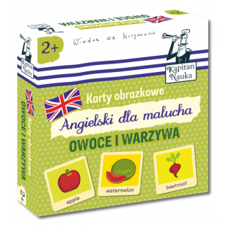 Karty obrazkowe Angielski dla malucha Owoce i warzywa (Książeczka + 17 ilustrowanych kart )