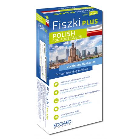 Fiszki PLUS Polish for foreigners  (600 fiszek + program i nagrania do pobrania + kolorowe przegródki + etui)