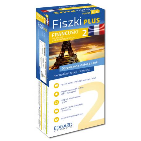 Francuski Fiszki PLUS dla średnio zaawansowanych 2  (600 fiszek + program i nagrania do pobrania + kolorowe przegródki + etui)