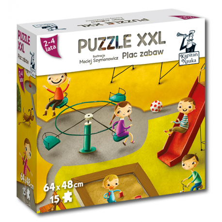 Kapitan Nauka. Puzzle XXL Plac zabaw 2-4 lata...