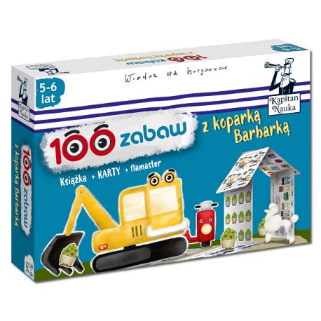 100 zabaw z koparką Barbarką 5-6 lat Nowa edycja (Książka + 30 dwustronnych zmywalnych kart + flamaster)